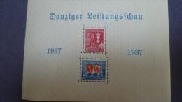 Bloc Feuillet  1937 Danziger Leistungs Schau - Non Classificati