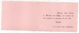 Fin Des Années 50--Faire-part De Naissance--Brigitte SERNIN--parents Jean Sernin-Mme Née Gelly--Montpellier-34 - Naissance & Baptême
