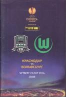 Russian Football. Official Program. UEFA EUROPA LEAGUE. 23.10.2014. FC Krasnodar - VfL Wolfsburg. - Livres