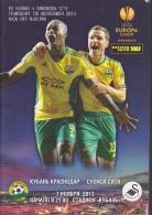 Russian Football. Official Program. UEFA EUROPA LEAGUE. 07.11.2013. FC Kuban - Swansea City A.F.C. - Livres