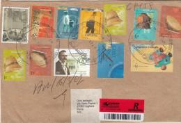 Argentina 2002  -  Lettera Racc.   X L´Italia Affrancata Con 12 Stamps - Argentina