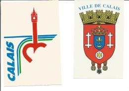 Blason Adhésif   Lot De 2 Armoiries Calais - Stickers