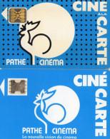 CARTES CINEMA-CINECARTES  PATHE Coqs Bleus  (lot De 2) - Movie Cards