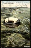 ALTE POSTKARTE STAMSRIED U. UMGEBUNG EUGEN FELLE PÖSING CHAM LAIBLING MAP AK Ansichtskarte Cpa Postcard - Germania