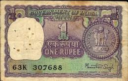 INDE – Billet D'1 Roupie - Inde