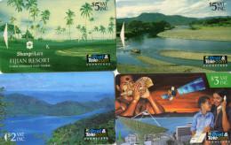 TELECARTES FIDJI  *$2 *$3 *$5 *$5  (lot De 4) - Fidji
