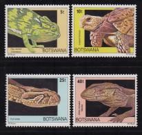 BOTSWANA, 1980, Mint Hinged Stamps , Reptiles, 243-246 , #780 - Botswana (1966-...)