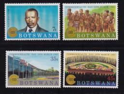 BOTSWANA, 1983, Mint Hinged Stamps , Commonwealth Day, 321-324 , #814 - Botswana (1966-...)