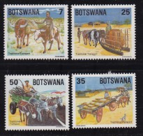 BOTSWANA, 1984, Mint Hinged Stamps , Traditional Transport, 341-344, #818 - Botswana (1966-...)