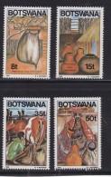 BOTSWANA, 1986, Mint Hinged Stamps , Local Milk Containers,  380-383, #859 - Botswana (1966-...)