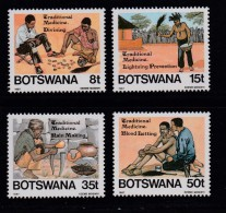 BOTSWANA, 1987, Mint Hinged Stamps , Traditional Medicines,  392-395, #868 - Botswana (1966-...)