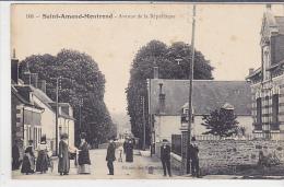 18. SAINT AMAND MONTROND. N 108.  AVENUE DE LA REPUBLIQUE.  CPAA  AN 1911. - Saint-Amand-Montrond