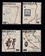 BOTSWANA, 1988, Mint Hinged Stamps , Runner Post Mafeking,  435-438, #888 - Botswana (1966-...)