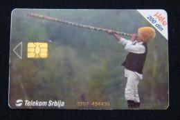 SERBIA 200 DINARA 2004 CHIP CARD, CISTUS, HIGH QUALITY, OPERATOR TELEKOM. - Jugoslawien