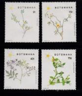 BOTSWANA, 1988, Mint Hinged Stamps , Christmas Flowers,  447-450, #906 - Botswana (1966-...)