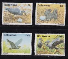 BOTSWANA, 1989, Mint Hinged Stamps , Birds (Egret) 455-458, #928 - Botswana (1966-...)
