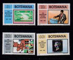 BOTSWANA, 1989, Mint Hinged Stamps , Independence), 467-470, #932 - Botswana (1966-...)
