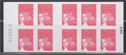 Marianne De Luquet Dite Du 14 Juillet TVP Carnet  X10 Autocollant 083 Neuf N° 3419-C10 La France à Voir Numéro 41518-1 - Carnets