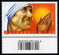 ÖSTERREICH 2010 ** 100. Geburtstag - Mutter Teresa - MNH - Berühmt Frauen