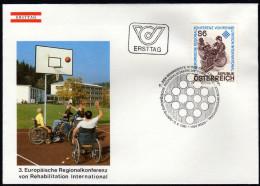 ÖSTERREICH 1981 - Basketball / Konferenz Von Rehabilitation - Sonderstempel FDC - Handisport