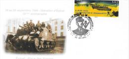 Epinal -70° Anniversaire Libération 15/16/09/2014 Enveloppe - Commemorative Postmarks