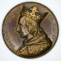 "France 1836 "" CHARLES  V "" Médaille / Medallion - Signé CAQUE - Before 1871"