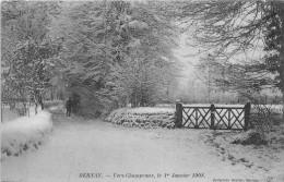 BERNAY - Vers Champeaux, Le 1er Janvier 1908 - Bernay