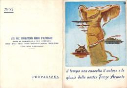 """03918 """"ASS. NAZ. COMBATENTI REDUCI D'OLTREMARE - COMITATO NAZ.LE - CENTOFANTI"""" CALENDARIETTO 1955 - Calendriers"""