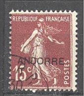 Andorre: Yvert N°7°; Type Semeuse; Voir Le Scan; PETIT PRIX A PROFITER!!! - French Andorra