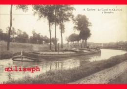 Pont-à-Celles - LUTTRE - Le Canal De Charleroi à Bruxelles - à Hauteur De La Gare - Vue Arrière Rue Roosevelt     (4046) - Pont-à-Celles