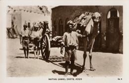 YEMEN - ADEN - CPA -  NATIVE CAMEL CARTS - Yémen