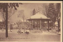 CPA:Oyonnax:Le Parc Sous La Neige - Oyonnax