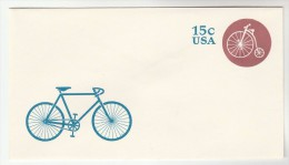 USA Postal STATIONERY COVER Illus BICYCLE  , PENNY FARTHING CYCLE Stamps Bike Cycling - Radsport