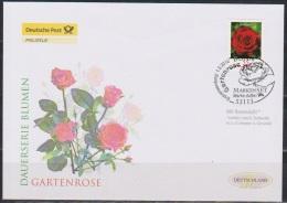 Deutschland FDC 2010 Nr.2675 Blumen: Gartenrose Aus Folienblatt Mit Duftdruck ( D 2628 ) - [7] República Federal