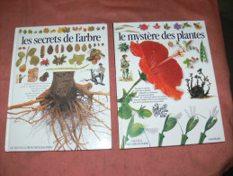SECRETS DE L ARBRE / MYSTERE DES PLANTES / LOT DE DEUX LIVRES  SERIE YEUX DE LA DECOUVERTE GALLIMARD - Nature