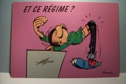 FRANQUIN - - Gaston . LAGAFFE   ---ET CE REGIME  ? - Künstlerkarten