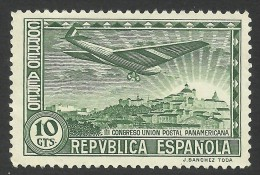 Spain, 10 C. 1931, Sc # C63, Mi # 593, MH - Poste Aérienne