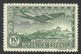 Spain, 10 C. 1931, Sc # C63, Mi # 593, MH - Luchtpost