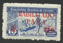 Spain, Charity, 5 C. On 10 C. 1944, MNH. - Bienfaisance