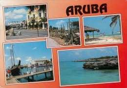 Greetings From ARUBA - Netherlands Antilles, 3 Sondermarken - Antillen