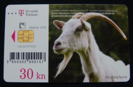 CROATIA 30 KN 2010 CHIP CARD GOAT, EXCELLENT QUALITY. - Croatia