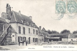 77 - GRAND PUITS - Ferme De La Salle - Intérieur - Circulé En 1905 - B.E. - Andere Gemeenten