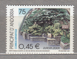 EUROPA 2001 Andorra Sp Water Mi 280 MNH (**) #19164 - Europa-CEPT