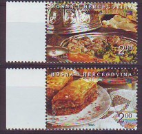 Bosnia 2005 Europa Gastronomy Complete Set MNH** Bosnie 2005 Gastronomie Serie Complète - Bosnien-Herzegowina