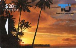 TELECARTE ILES COOK  *$20 Sunset In Rarotonga - Cook Islands