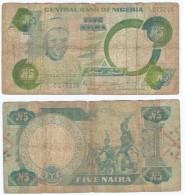 Nigeria 5 Naira 1979-1984 Pick 20.a Ref 342 - Nigeria
