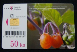 CROATIA 50 KUNA 2010 CHIP CARD FLORA, EXCELLENT QUALITY. - Croatia