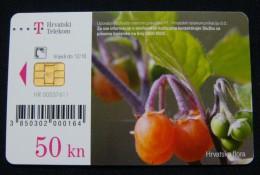 CROATIA 50 KUNA 2010 CHIP CARD FLORA, EXCELLENT QUALITY. - Kroatien