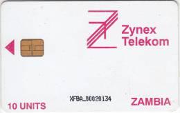ZAMBIA - Zynex Telecom First Issue 10 Units, CN : XFBA, Used - Zambia