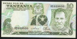 TANZANIE TANZANIA  P6c   10  SHILLINGI  1978 Signature 3   UNC. - Tanzania
